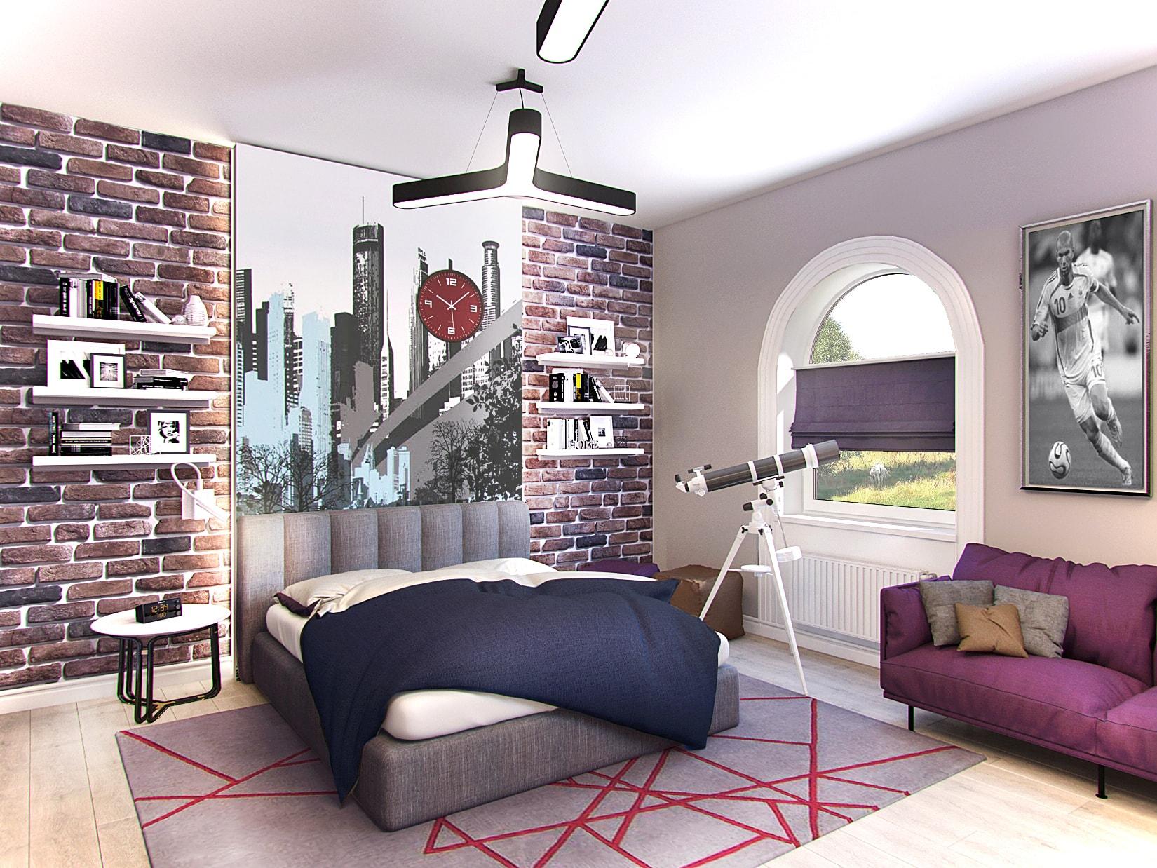 Детская комната для подростка мальчика